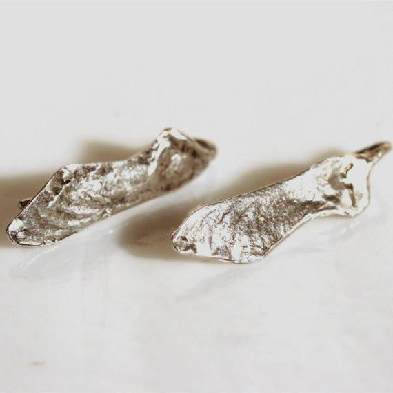 Delicate 925 Sterling Silver Helicopter leaf Earrings - Zulasurfing Jewelry  - 1