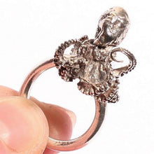 Load image into Gallery viewer, Sterling Silver Baby Octopus Ring Size 6 - Zulasurfing Jewelry  - 1