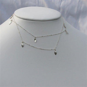 Fabulous 925 Sterling Silver Necklace with Delicate Sterling Silver leafs - Zulasurfing Jewelry  - 2
