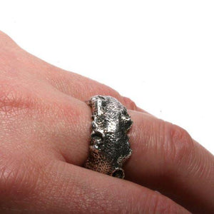 925 Sterling Silver Octopus Coral ring size 6.5 - Zulasurfing Jewelry  - 3