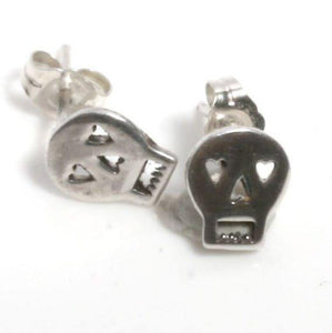 Delicate 925 Sterling Silver Skull Post Earrings - Zulasurfing Jewelry  - 1