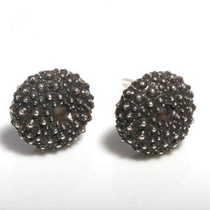 Sterling Silver Baby sea urchin earrings - Zulasurfing Jewelry  - 1