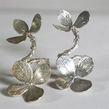 Load image into Gallery viewer, Gorgeous Double Flower branch ring in sterling silver Adjustable - Zulasurfing Jewelry  - 4