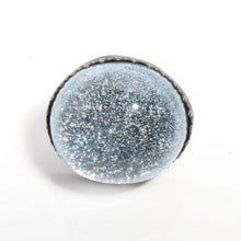 Load image into Gallery viewer, Larger than life Dichroic glass in Sterling silver cocktail ring - Zulasurfing Jewelry  - 2