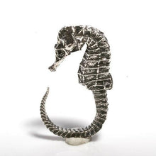 Load image into Gallery viewer, Sterling silver seahorse ring size 5-6.5 - Zulasurfing Jewelry  - 1