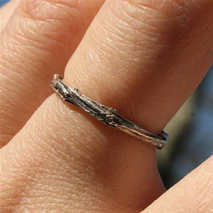 Sterling silver tree branch ring - Zulasurfing Jewelry  - 2