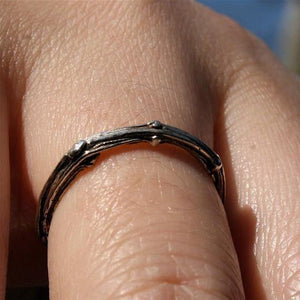 Sterling silver tree branch ring - Zulasurfing Jewelry  - 3
