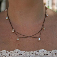 Load image into Gallery viewer, Delicate keshi pearl sterling silver necklace - Zulasurfing Jewelry  - 1
