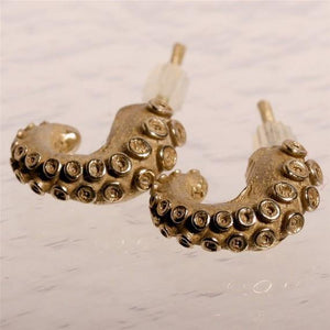 Octopus tentacle Earrings small size - Zulasurfing Jewelry  - 1