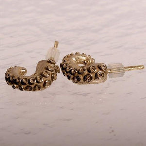 Octopus tentacle Earrings small size - Zulasurfing Jewelry  - 2