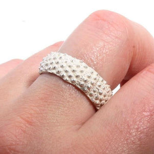 sea urchin band ring in sterling silver size 9 - Zulasurfing Jewelry  - 2