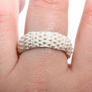 sea urchin band ring in sterling silver size 9 - Zulasurfing Jewelry  - 3
