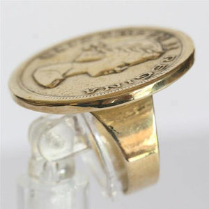 Unique Brass Coin adjustable ring - Zulasurfing Jewelry  - 5