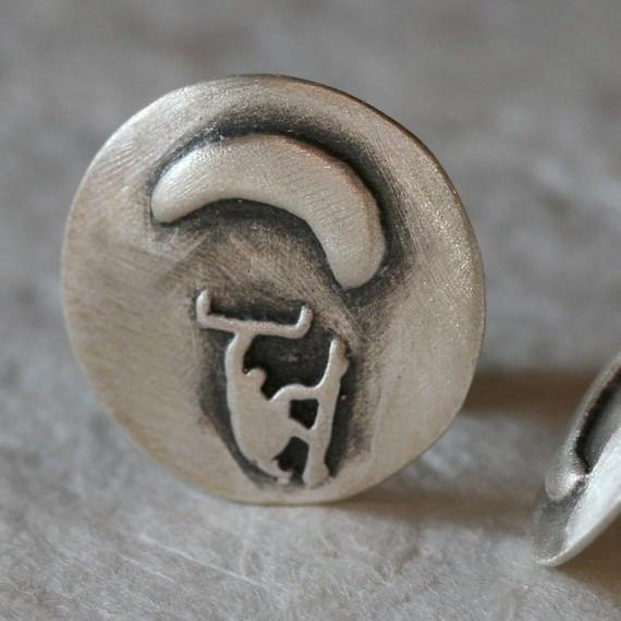 kitesurfing cufflinks Made of Sterling Silver - Zulasurfing Jewelry  - 1