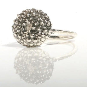 Sterling silver baby sea urchin ring - Zulasurfing Jewelry  - 1