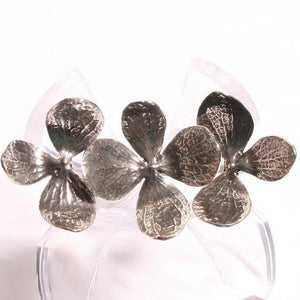Gorgeous 3 Flower two finger  Silver adjustable ring - Zulasurfing Jewelry  - 1