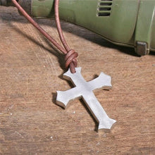 Load image into Gallery viewer, Surfer Necklace with Cross Pendant - Zulasurfing Jewelry  - 2