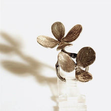 Load image into Gallery viewer, Double flower and branch ring is solid sterling silver - Zulasurfing Jewelry  - 3