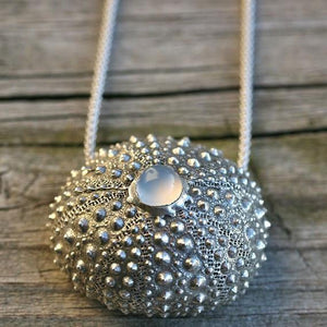 Sterling silver Sea Urchin Necklace - Zulasurfing Jewelry  - 1