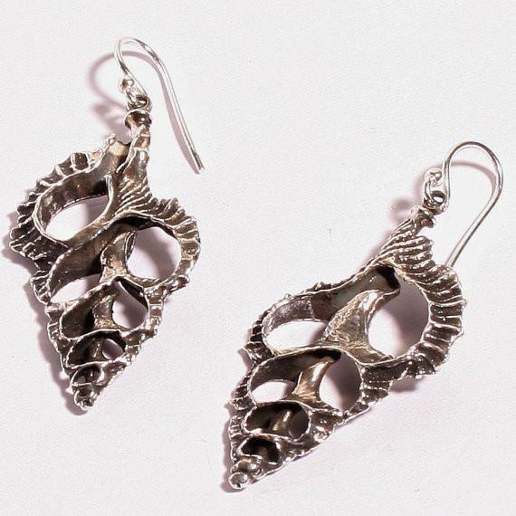 925 Sterling Silver Sliced Shell earrings or Necklace - Zulasurfing Jewelry  - 1