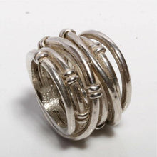 Load image into Gallery viewer, solid sterling silver wrap ring size 5 3/4 - Zulasurfing Jewelry  - 1