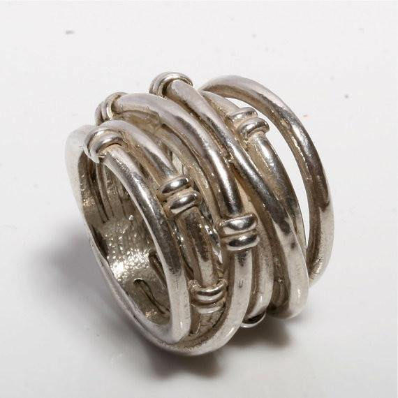 solid sterling silver wrap ring size 5 3/4 - Zulasurfing Jewelry  - 1