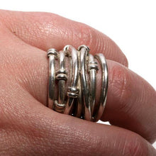 Load image into Gallery viewer, solid sterling silver wrap ring size 5 3/4 - Zulasurfing Jewelry  - 3