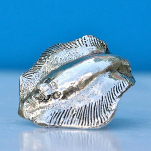 Manta Ray Sterling Silver Adjustable ring - Zulasurfing Jewelry  - 2