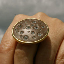 Load image into Gallery viewer, Gold plated Brass Swarovski crystal adjustable ring - Zulasurfing Jewelry  - 5