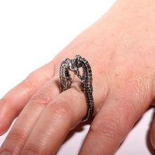 Load image into Gallery viewer, Seahorse Sterling Silver ring size 5-6.5 - Zulasurfing Jewelry  - 2