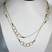 Load image into Gallery viewer, Circle of life necklace Gold filled and iolite necklace - Zulasurfing Jewelry  - 1