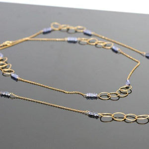 Circle of life necklace Gold filled and iolite necklace - Zulasurfing Jewelry  - 3