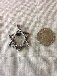 Star of david Pendant made from a bush branch - Zulasurfing Jewelry