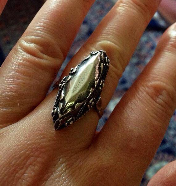 Sterling silver vintage style solid silver ring size 6 - Zulasurfing Jewelry  - 1