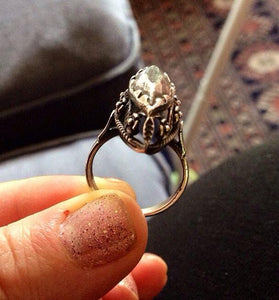 Sterling silver vintage style solid silver ring size 6 - Zulasurfing Jewelry  - 4