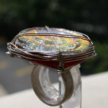 Load image into Gallery viewer, Sterling silver with fused dichroic glass ring - Zulasurfing Jewelry  - 4