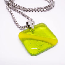 Load image into Gallery viewer, Scuba Diving Jewelry Nitrox down Flag scuba gear fused Glass Pendant