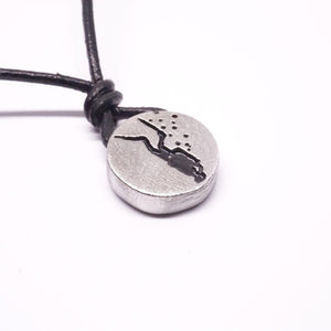Scuba Diving Diver Jewelry small Pewter Diver Necklace by Zulasuring