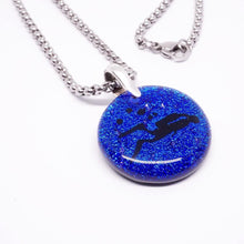 Load image into Gallery viewer, Diver Jewelry Scuba Diving Blue Dichroic Glass DiverBy Zulasurfing