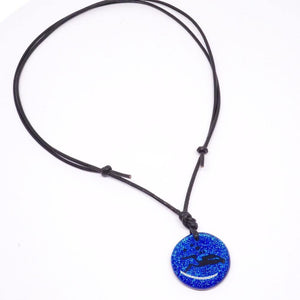 Diver Jewelry Scuba Diving Blue Dichroic Glass DiverBy Zulasurfing