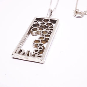 Scuba Diving Diver fins and bubbles Contemporary Design Pendant By Zulasurfing