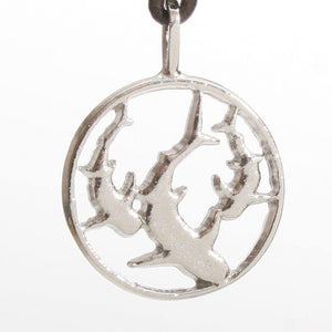 Surfer Necklace with Shark Sterling Silver Pendant - Zulasurfing Jewelry  - 1