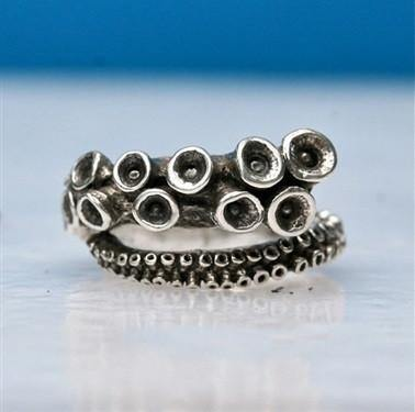 Octopus Tentacle adjustable ring - Zulasurfing Jewelry  - 1