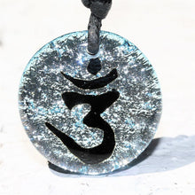 Load image into Gallery viewer, Dichroic Glass pendant OM Yoga Reiki pendant - Zulasurfing Jewelry  - 3