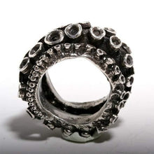 Load image into Gallery viewer, sterling silver Double Octopus ring - Zulasurfing Jewelry  - 2