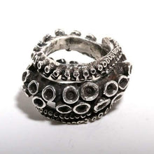 Load image into Gallery viewer, sterling silver Double Octopus ring - Zulasurfing Jewelry  - 1