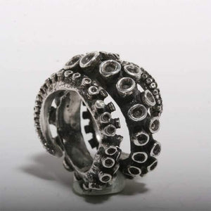 sterling silver Double Octopus ring - Zulasurfing Jewelry  - 5