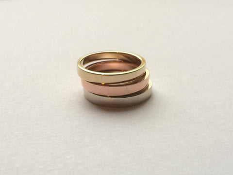 Tricolore Yellow Gold Ring