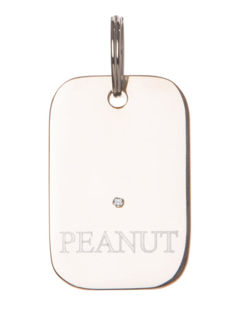 Dog Tag Diamond Silver