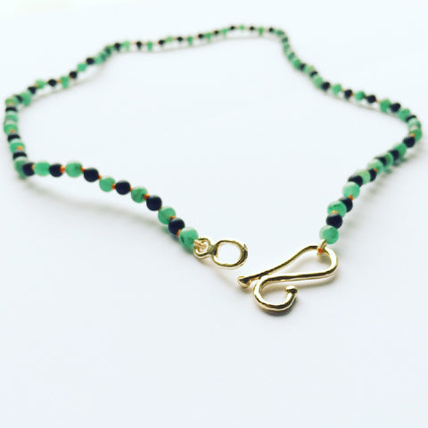 Emerald and Agate Choker Necklace